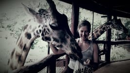 Positive Force and World Changer Meet RTC Book Editor Annie Rose Stathes giraffe