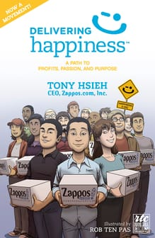 Delivering Happiness Comic book cover