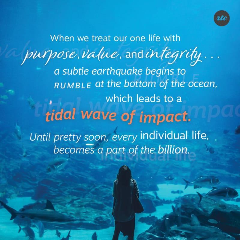Making a tidal wave impact