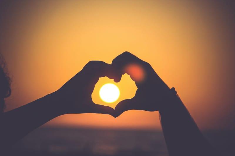 Hand heart image