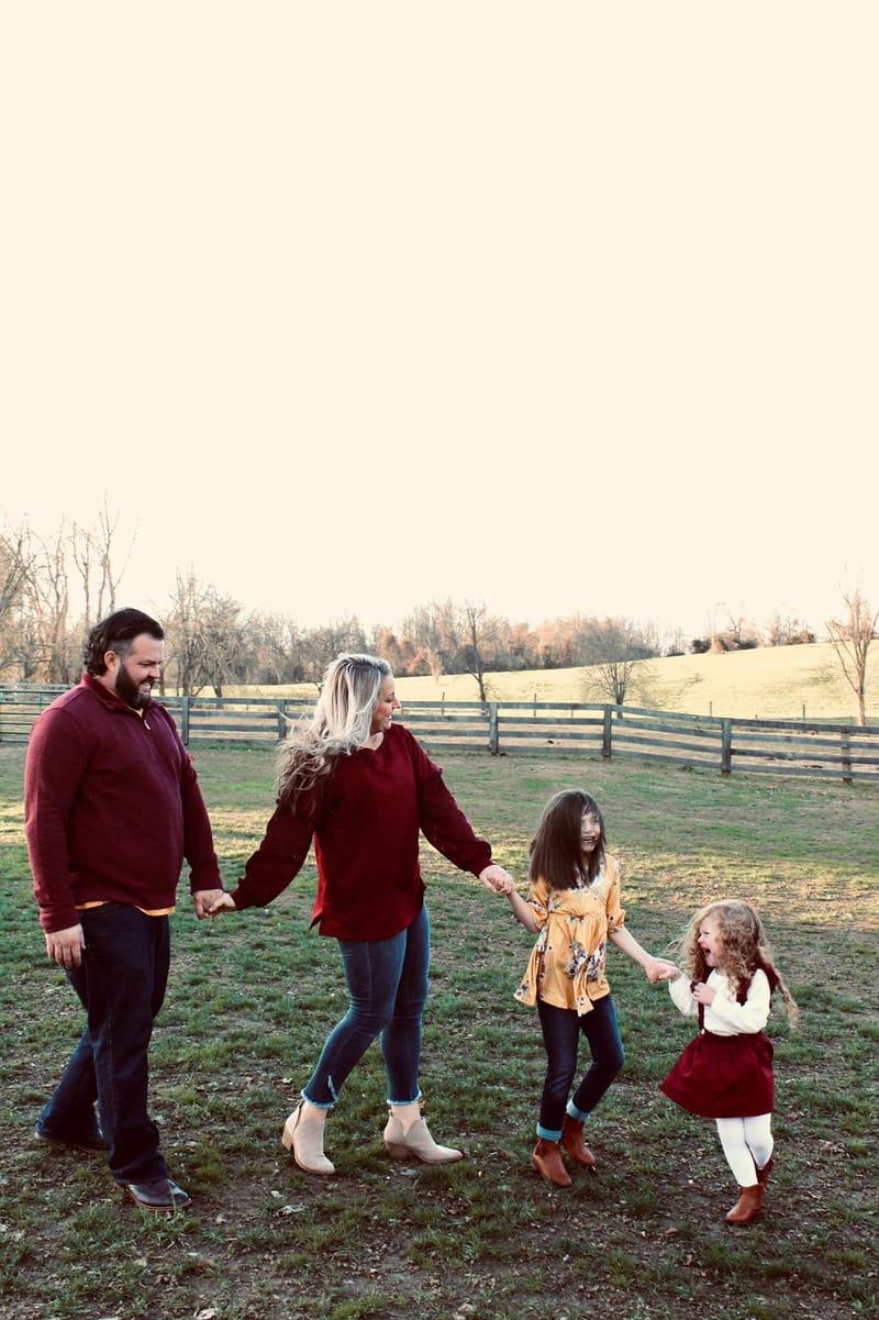 Kristen Mitchell family walking